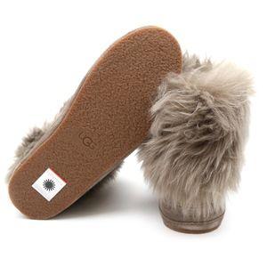 bbd6c84d3af UGG Australia Antoine Fur Slate Sheepskin Sneakers NWT
